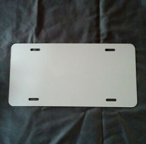 Aluminum License Plate Sublimation Blanks 6 x 12 032 Gauge Set Of 10