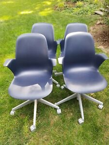 Steelcase Node 5 Arm Rolling Chair Office Set Of 4
