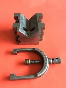 Brown Sharpe No 750b Machinist V block With Clamp