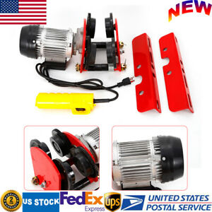 1t 2200lb Electric Hoist Lift Trolley Overhead Winch Crane W Handle Switch 500w