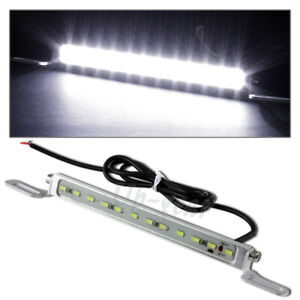 Universal White 7000k 12 led Bolt on Car Truck Chrome License Plate Light Lamp