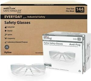 Hyline Clear Lens Anti Fog And Anti Scratch Safety Glasses pack Of 144