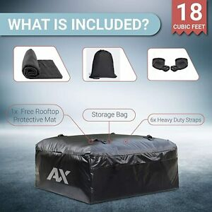 Waterproof Rooftop Cargo Carrier Heavy Duty 18 Cubic Feet Car Roof Cargo Bag
