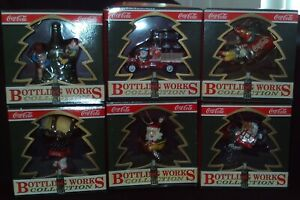 (6) *NEW* 1992 Coca Cola Bottling Works Collection Ornaments