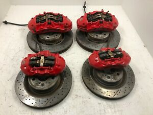15 Mercedes W204 C63 507 Edition Oem Front Rear Brembo Brake Calipers Rotors 204