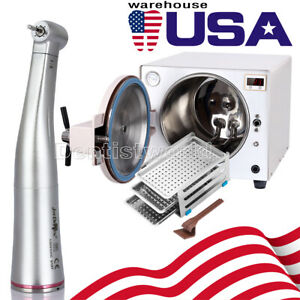 18 L Dental Medical Autoclave Steam Sterilizer Kavo 1 5 Contra Angle Handpiece