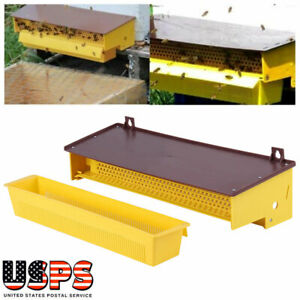 Bee Pollen Trap Collector Plastic Yellow For Apiculture Beekeeping Beehive Tool