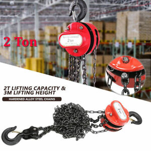 2ton Chain Puller Block Fall Chain Hoist Hand Tools Lifting Chain With Hook