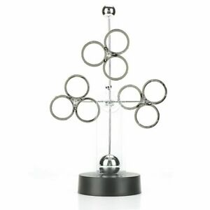 Revolving Balls Perpetual Motion Desk Physics Science Toy Office Decoration New