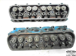 1969 Mustang 302 V 8 Engine Cylinder Heads C90e Pair