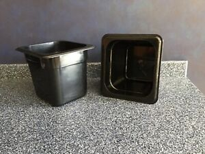 Container black Cambro 1 6 Food Storage Containers Set Of 10