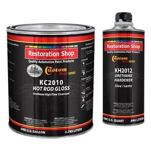 Complete Kit Hot Rod Gloss Urethane High Flow Clearcoat With Hardener Gallon
