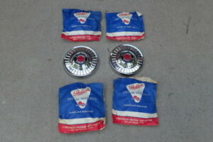 1953 54 Packard Clipper Hub Caps Set 4 Nos 465076 Dog Dish