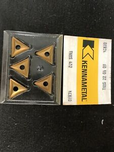 Qty 5 Kennametal Tnms 22 04 08 Tnms 432 Kc810 Carbide Turning Inserts Usa