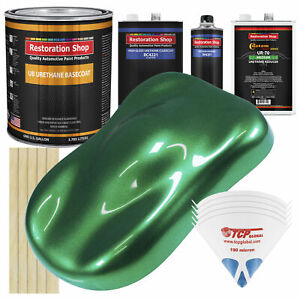 Emerald Green Metallic Gallon Urethane Basecoat Clearcoat Car Auto Paint Kit