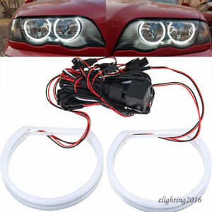 Halogen Headlight Cotton Smd Led Angel Eyes Halo Rings For Bmw E46 Non Projector