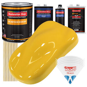 Boss Yellow Gallon Urethane Basecoat Clearcoat Car Auto Paint Fast Kit