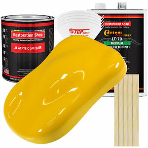 Viper Yellow Acrylic Lacquer Gallon Auto Paint Kit Medium Thinner