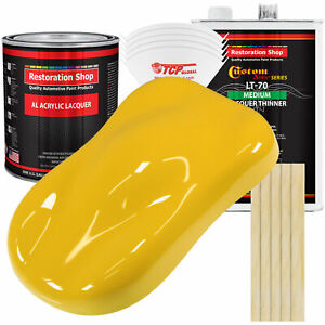 Indy Yellow Acrylic Lacquer Gallon Auto Paint Kit Medium Thinner