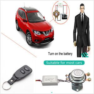 Car Battery Switch Disconnect Latching Relay 180a W Wireless Remote Control