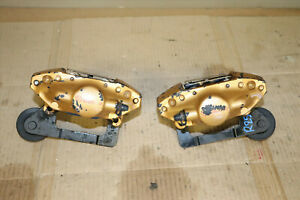 Jdm 2004 2007 Subaru Wrx Sti Turbo Rear Brembo Brake Calipers 2 Pot Pistons