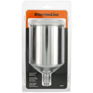 Devilbiss Startingline 20 Oz Metal Gravity Feed Spray Paint Gun Cup With Lid