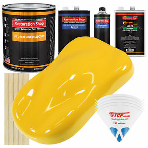 Sunshine Yellow Gallon Urethane Basecoat Clearcoat Car Auto Body Paint Kit