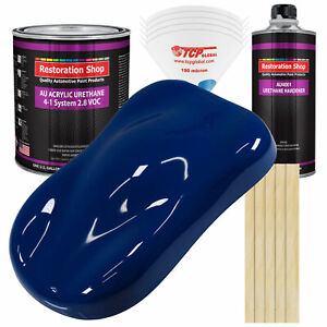 Restoration Shop Marine Blue Acrylic Urethane Gallon Kit Auto Paint