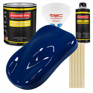 Restoration Shop Marine Blue Acrylic Enamel Gallon Kit Auto Paint