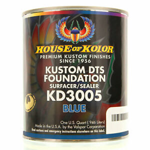 1 Quart Blue Color Kd3005 House Of Kolor Dts Auto Surfacer Sealer Epoxy Primer