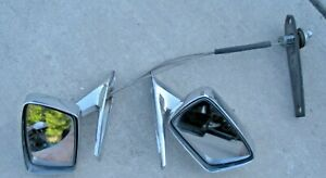 Set Lh Rh 1969 1970 Ford Mustang Cougar Xr7 Mirrors With Toggle Adjuster And Nut