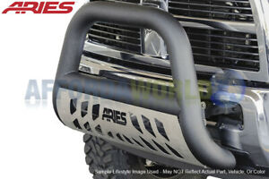 4in Big Horn Textured Black Bull Bar W Skid Plate For 2009 17 Dodge Ram 1500