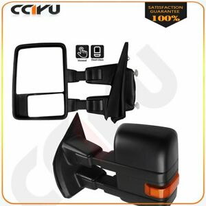 Towing Mirrors Manual Black Turn Signals Side Lh Rh For 2015 2020 Ford F 150