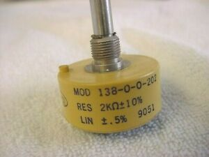 New Spectrol Vishay Rotary Potentiometer 138 0 0 202 2k Ohm Continuous Rotation