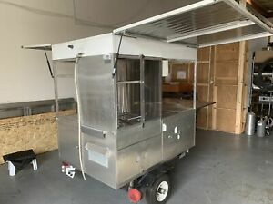 Fully Self contained 2018 4 X 9 Street Food Concession Cart For Sale In Califo