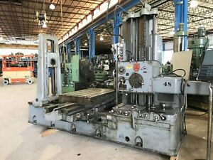 3 Giddings Lewis Table Type Horizontal Boring Mill G l 300t Tailstock Dro