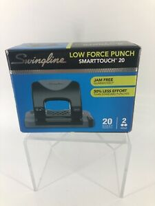 Swingline 2 Hole Punch Low Force Smarttouch Jam Free 20 Sheet Capacity