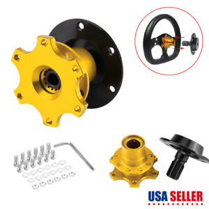 Universal Car Steering Wheel Quick Release Hub Snap Off Kit Racing Adapter