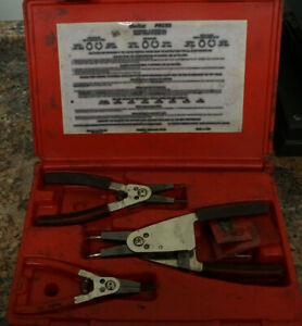 Co Blue Point Prcs3 Internal External Snap Ring Plier Set