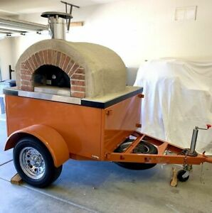 New 2019 6 7 X 9 5 Forno Bravo Wood fired Oven On Wheels Pizza Trailer For S