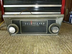 Vtg Ford Philco 12v Am Radio W Faceplate Knobs Wiring Fomoco Untested As Is