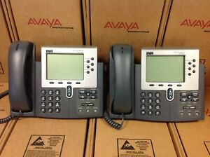 Lot Of 2 Cisco 7960 Cp 7960g Ip Phone With Stand And Handset