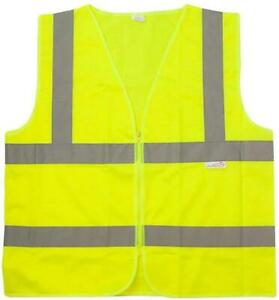 Reflective Safety Vest Lightweight Florescent Fabric Yellow 10 Pack
