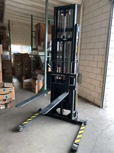 Pallet Stacker Lifts Up To 2000 Lbs Vestil Sl 137 aa Electric