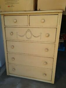 Shabby Chic Dresser Chest Vintage Mid Century Antique Country Retro Victorian