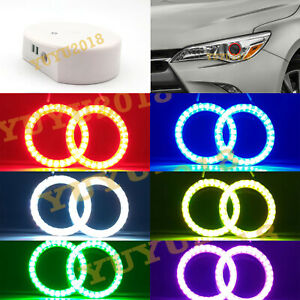Bluetooth Rgb Led Halo Rings For Toyota Camry 15 17 Car Headlight Angel Eye Drl