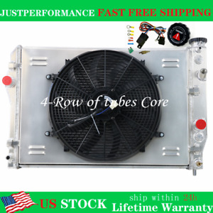 4 Row Radiator For Chevy Camaro Z28 Pontiac Firebird Trans Am 5 7l V8 1993 2002