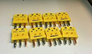 8 Omega Thermocouple Connectors Type K 3 wire Male