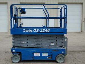 2006 Genie Gs 3246 Electric Slab Scissor Lift Jlg Skyjack Dealer Work Ready