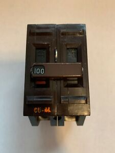 Wadsworth 100 Amp Double Pole 2 Pole 100a Main Circuit Breaker Tested